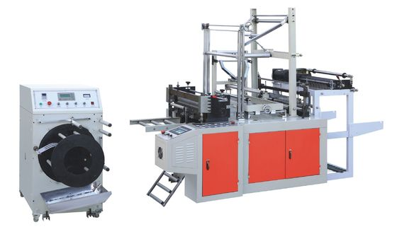 China Plastic Eco Bag On Roll Making Machine Continuous Rolling / Bottom Sealing distributor