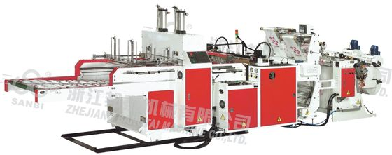 Hot Cutting LDPE T-shirt Bag Making Machine 230 - 250 pcs/min Full Automatic