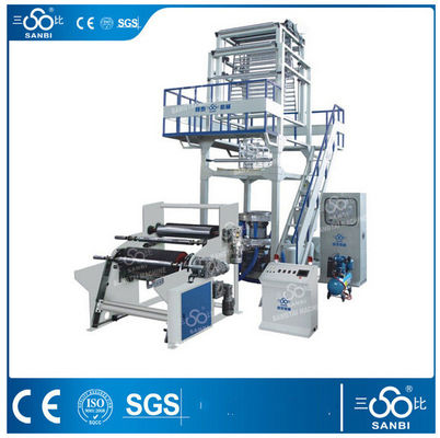 China Automatic PE Film Blowing Machine , Polyethylene blown film extruder distributor