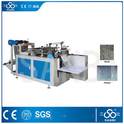 China Full Auto Plastic Glove Making Machine For Disposable Restaurant Gloves distributor