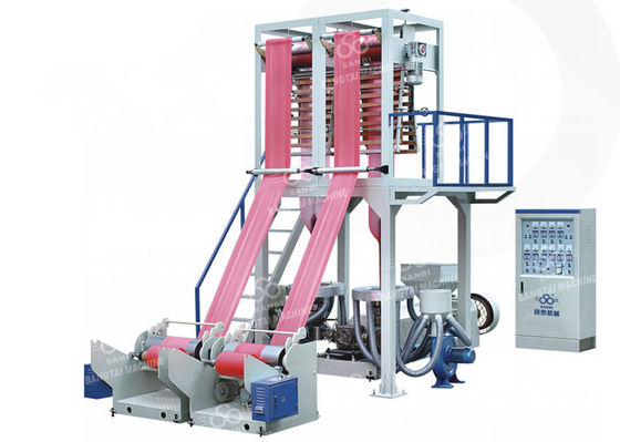China Single Screw Blown Film Extrusion Machine Winding Folding Device distributor